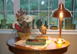 Machine Age Solid Coper Table Lamp