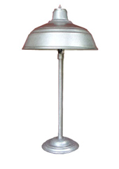 Galvanized Steel Table Lamp
