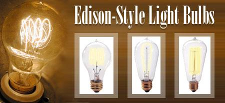 Vintage Edison-Style Light Bulbs