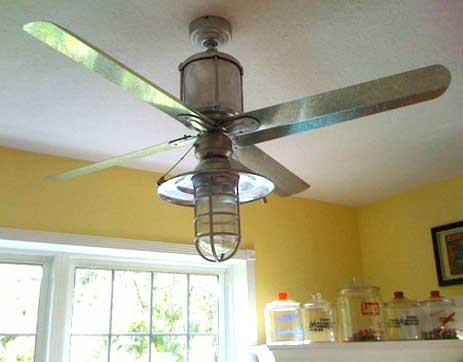rustic industrial ceiling fan with light