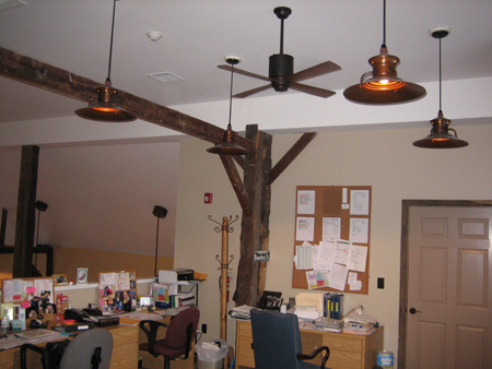 Chestnut Pendant with Lapa Ceiling Fan