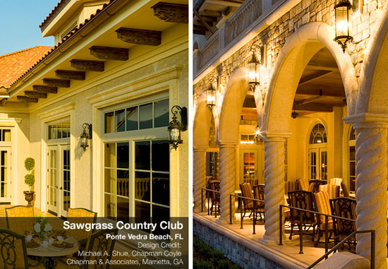 exterior lighting for spanish and greek architecture | blog
