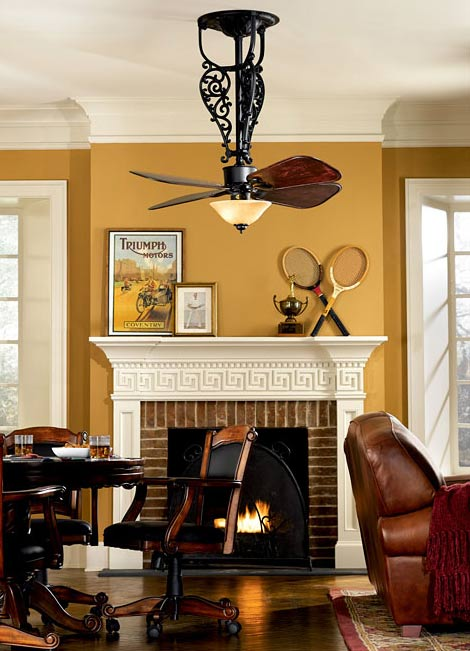 Ceiling Fan Innovation For Colonial And Victorian Eras