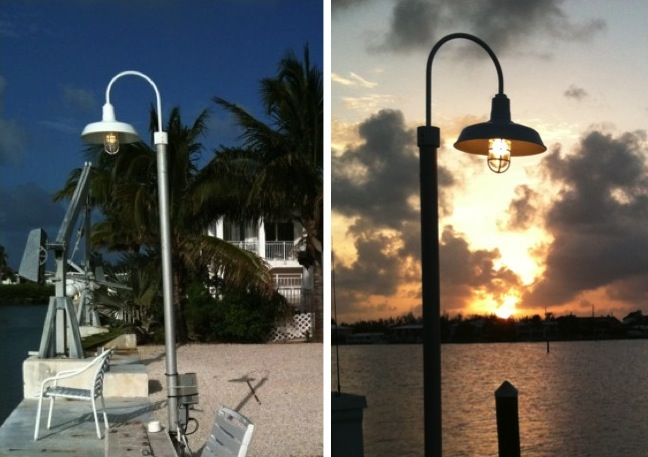 Stylish Dock Light Enhances Key West