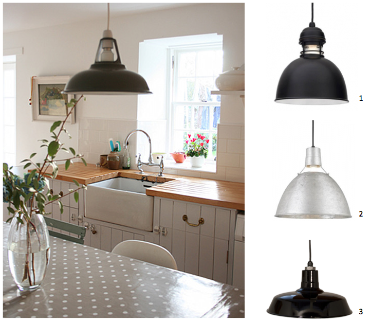 Small Warehouse Barn Light: Warehouse Kitchen Pendants Inspired By Country Farmhouse