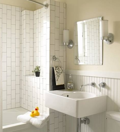 bathroom sconces height floor