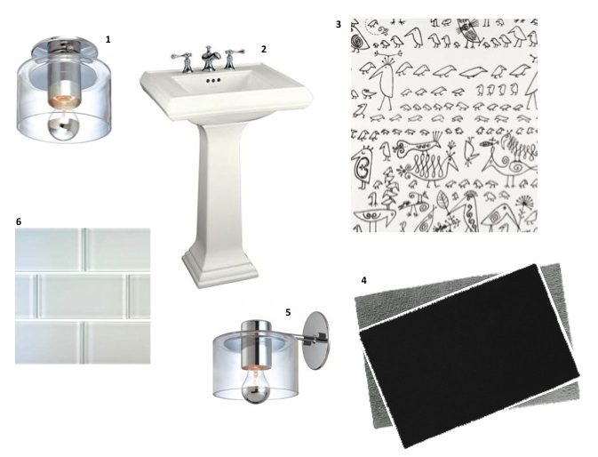 Stylish Modern Lighting For A Retro Black  White Bathroom Options Vintage Bathrooms Blog
