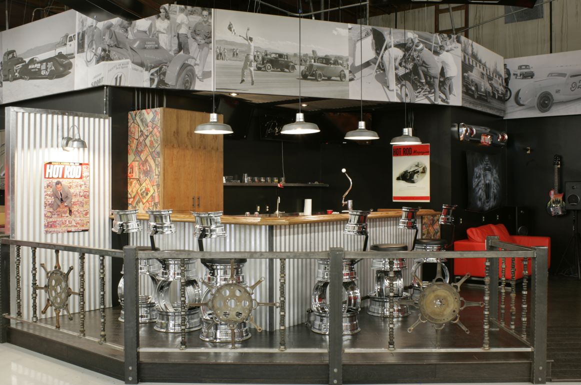 Garage mahal showcases warehouse pendants and hot rod for Decor warehouse