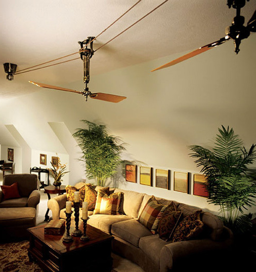 Belt driven ceiling fan style creates old world timelessness blog shown aloadofball Images