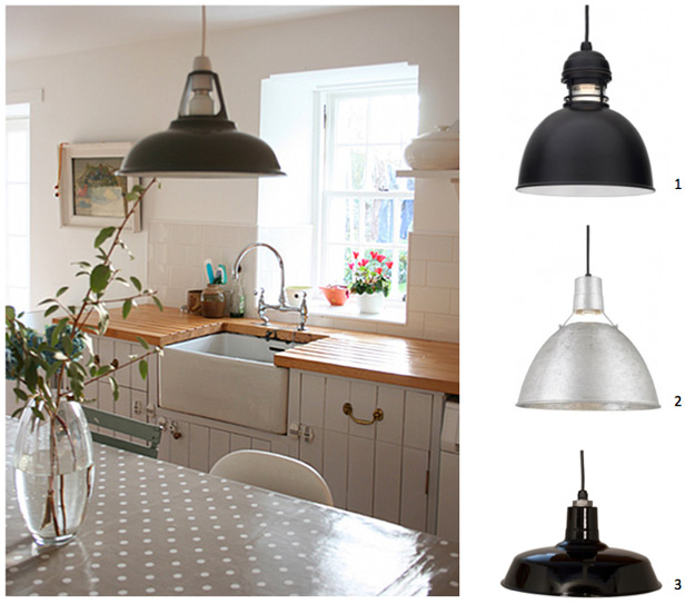 Country Pendant Lighting Found In Scottish Kitchen