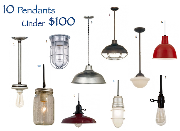 Barn Light Electric 10 Pendants Under 100 Inspiration