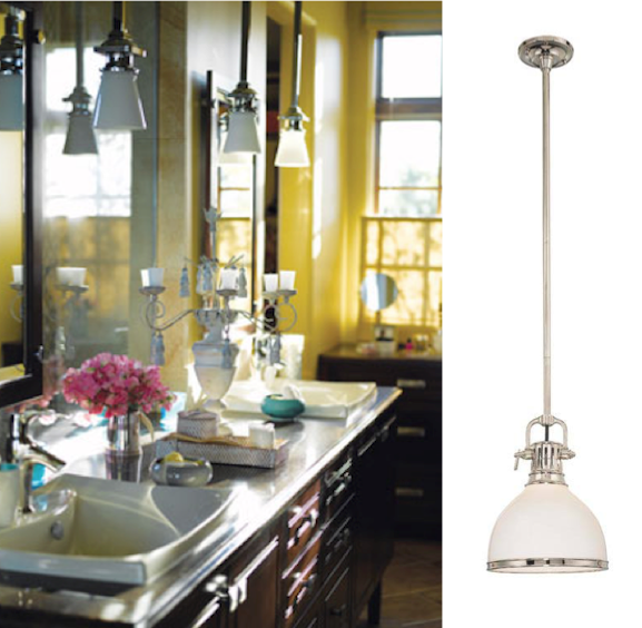 Bathroom Pendant Sconces bathroom lighting isn't exclusive to wall sconces anymore | blog