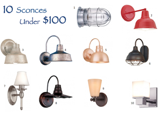 Bathroom Lighting Fixtures Under $100 wall sconces affordably priced under $100 | blog