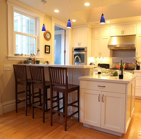 Modern Pendant Lights Renew San Francisco Family Kitchen Blog - Kitchen pendant lighting blue