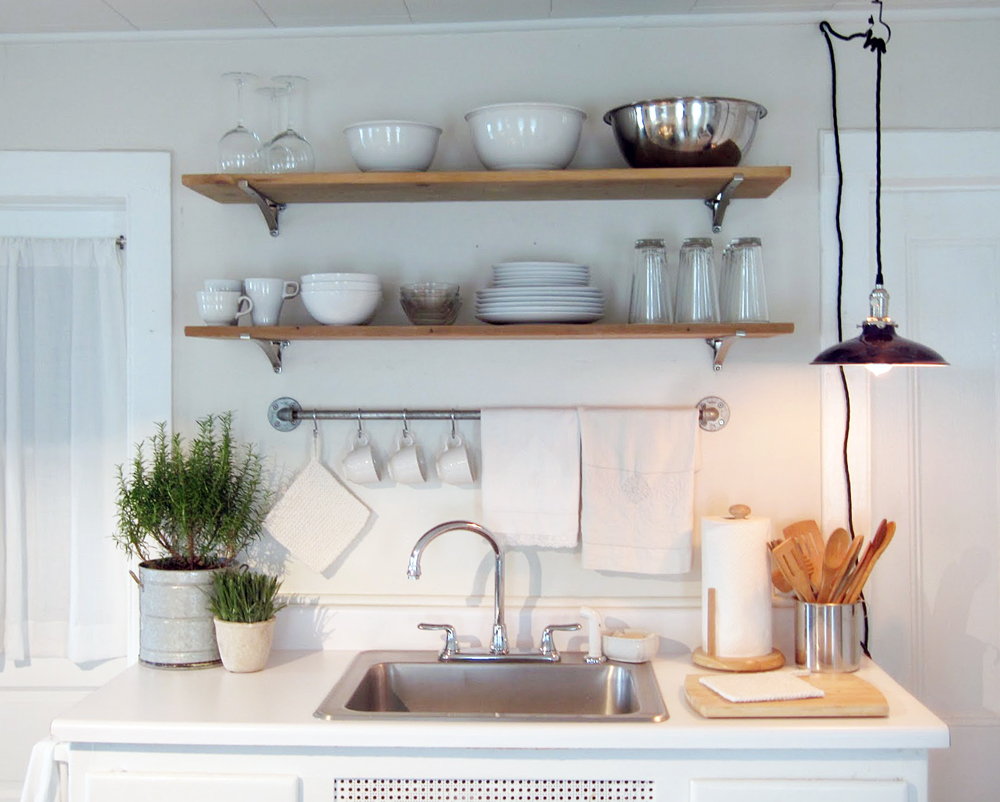 Radial Wave Shade Featured in Frugal Farmhouse Kitchen | Blog ...