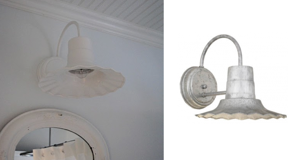 Barn Light Radial Wave Sconce Completes Canadian Cottage