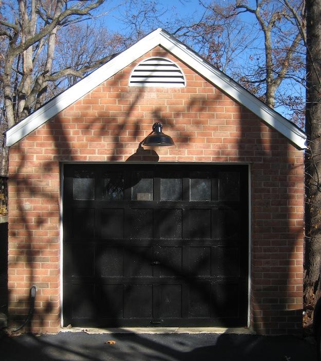 All Weather Gooseneck Farm Light In Arlington, VA Garage