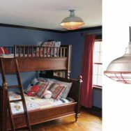 Baseball Themed Bedroom Incorporates Unique Pendant Lighting