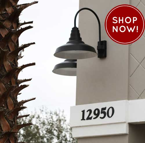 Barn Light Gooseneck Lighting Accents Restaurant Exterior