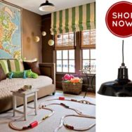 Atlanta Playroom Incorporates Vintage Inspired Lighting
