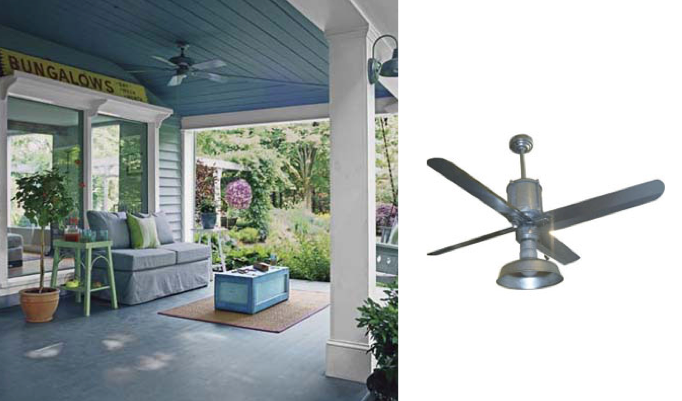 Galvanized Metal Ceiling Fans Add Industrial Appearance ...