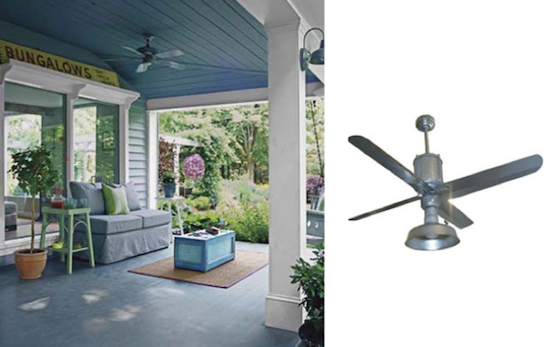 Galvanized Metal Ceiling Fans Add