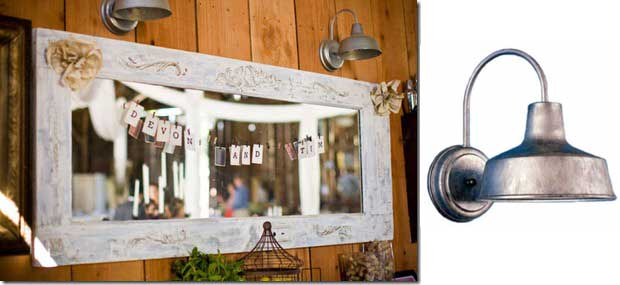 Rustic Farmhouse Wall Sconces : Barn Wall Sconces in Rustic Farmhouse Wedding Blog BarnLightElectric.com