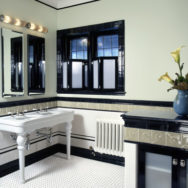Art Deco Style Reflected in New York Powder Room
