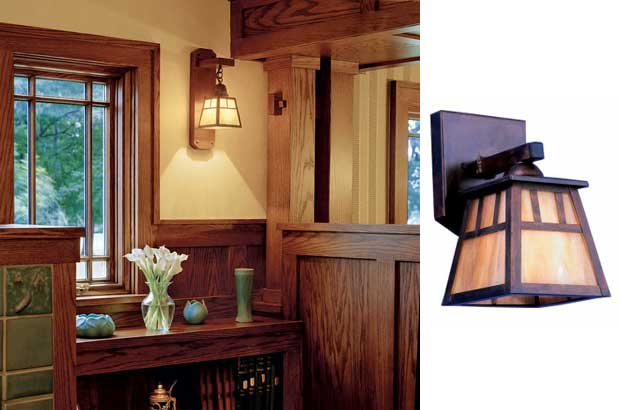 Arts Crafts Lighting Used In Bungalow Makeover Blog