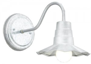 Barn Light Mini Radial Wave Shade in Galvanized