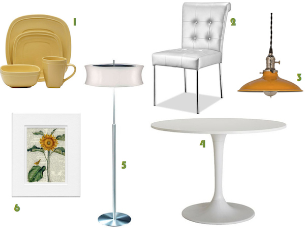 Yellow Style Guide Using Ivanhoe Sinclair and Disco Floor Lamp