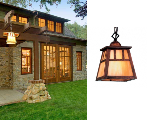 Arts Crafts Lighting Used In Bungalow Makeover