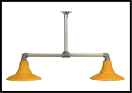 Barn Light Benjamin® Speedway 2-Light Stem Mount Pendant