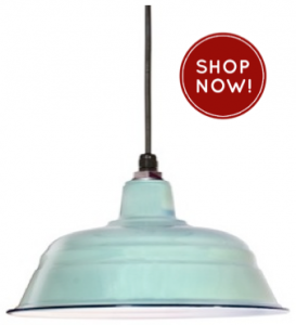 Warehouse pendant light completes rustic kitchen blog barn light ivanhoe bomber porcelain pendant light aloadofball Image collections