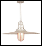 Barn Light Radial Wave Pendant Light