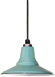 Ivanhoe Aero Shallow Bowl Porcelain Pendant Light in Jadite