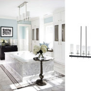 Modern Chandeliers Bring New Life to Traditional Bathrooms