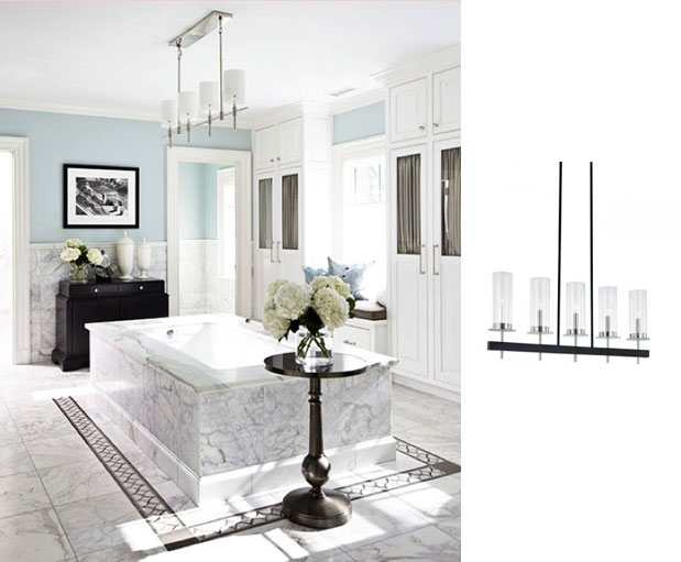 Bathroom Chandeliers Black modern chandeliers bring new life to traditional bathrooms | blog