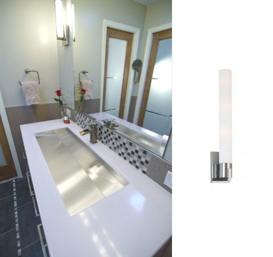 Stunning 70 ada bathroom wall sconces inspiration of ada for Contemporary bathroom wall sconces