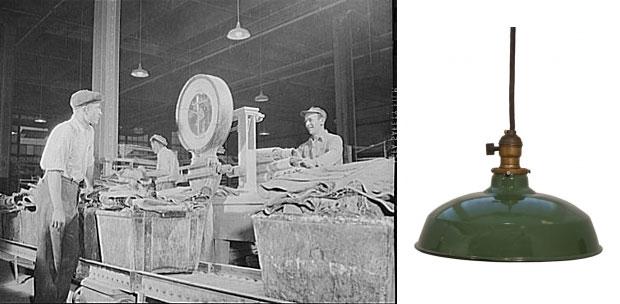 Vintage Warehouse Shades For Task Lighting