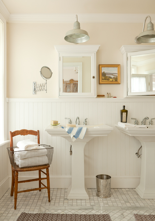 Farmhouse Bathroom Wall Sconces : Barn Lighting That Completes An 1850's Farmhouse Blog BarnLightElectric.com