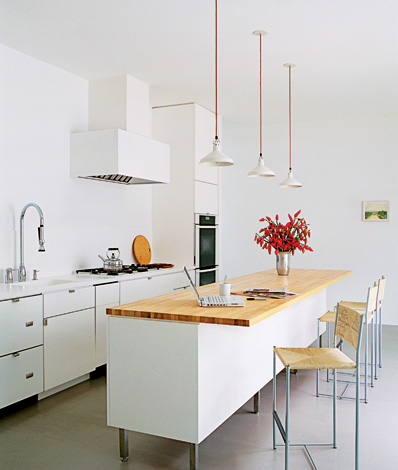Superior Red Cotton Cords Bring A Minimalist White Kitchen To Life