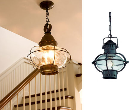 Outdoor lanterns add nautical touch inside nantucket cottage blog exterior pendant aloadofball Gallery