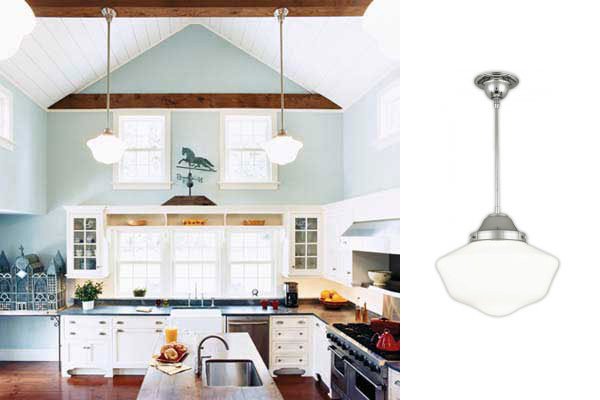 A farmhouse gets second life from schoolhouse pendants blog a home that gets a second life from schoolhouse pendants mozeypictures Images