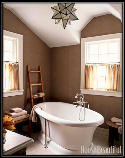 Modern, Art Deco Chandelier in a Traditional Bathroom | Blog ...