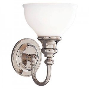 Antique Bathroom Wall Sconces guest bathroom | vintage brass hardware & reproduction lighting