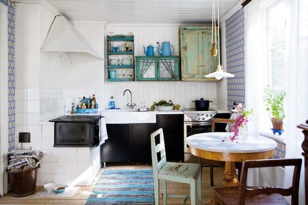 A Fluted Farmhouse Light For A Shabby Chic Kitchen