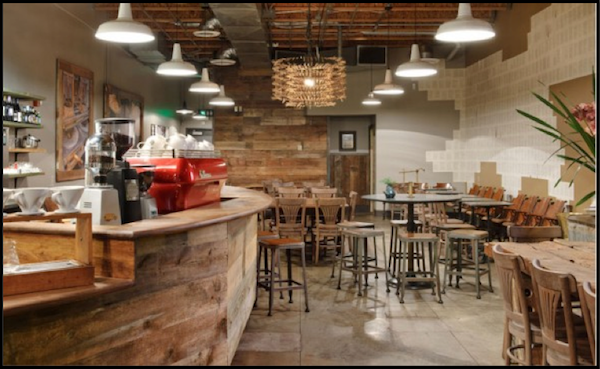 Sustainable Barn Lighting In A Rustic Starbucks Coffee Shop Blog