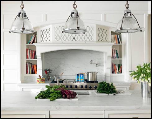 Itu0027s ...  sc 1 st  Barn Light Electric Blog & Holophane Glass Pendants That Influence a Traditional Kitchen | Blog ...