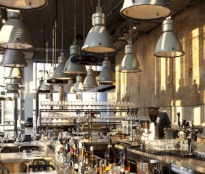 Israeli architects Baranowitz Kronenberg have created a shower of vintage industrial pendants hanging from the ceiling of the restaurant as a design element ... & Vintage Industrial Pendants Renew Old World Charm in Tel Aviv ... azcodes.com